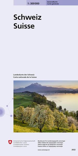 0050 Generalkarte der Schweiz 1:300 000