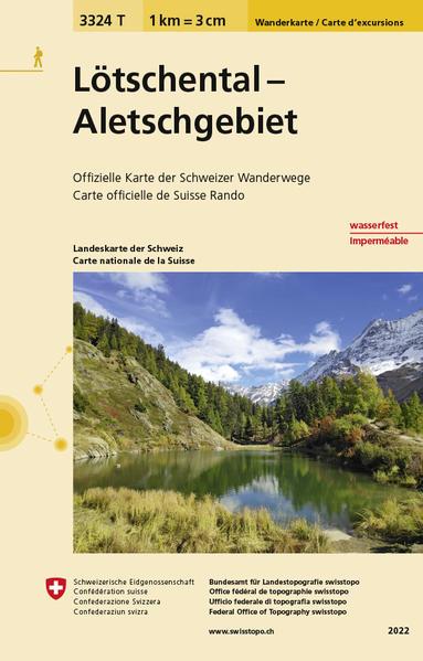 3324T Lötschental - Aletschgebiet Wanderkarte